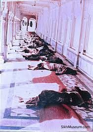 1984. Operation Blue Star: How an Indian army raid on the Golden Temple ended in disaster. https://www.youtube.com/watch?v=VQx7iZl9tbY   https://en.wikipedia.org/wiki/Operation_Blue_Star http://news.bbc.co.uk/onthisday/hi/dates/stories/june/6/newsid_2499000/2499341.stm  http://www.telegraph.co.uk/news/worldnews/asia/india/10571223/Britain-backstabbed-Sikhs-by-advising-India-on-1984-Golden-Temple-raid.html
