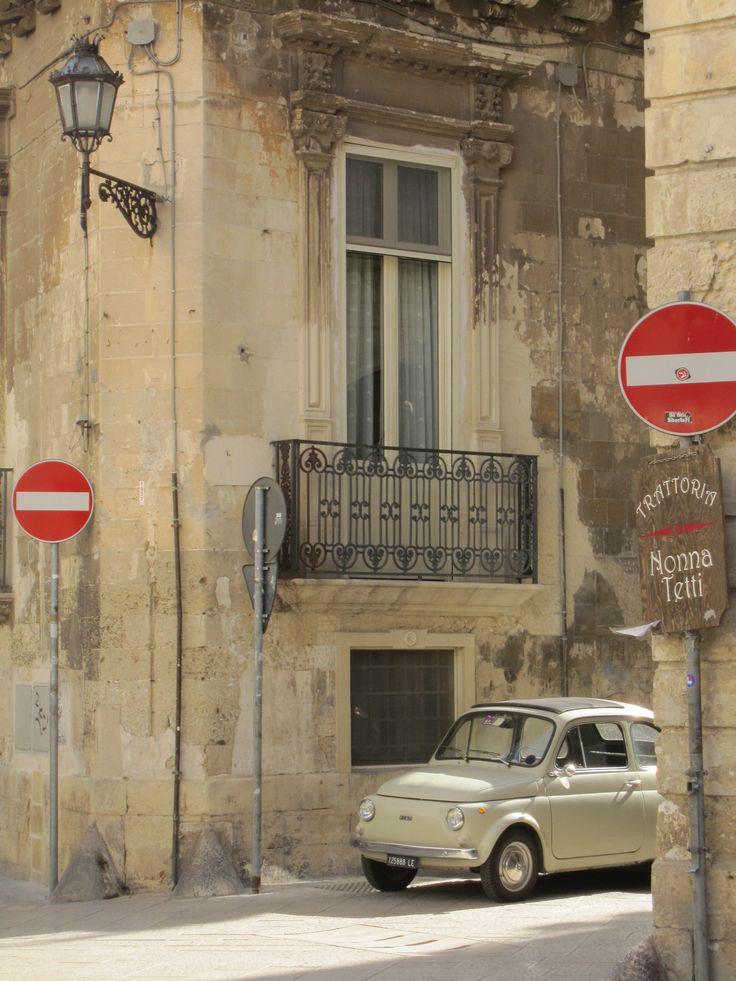 Tiny Fiat in Lecce, Italy