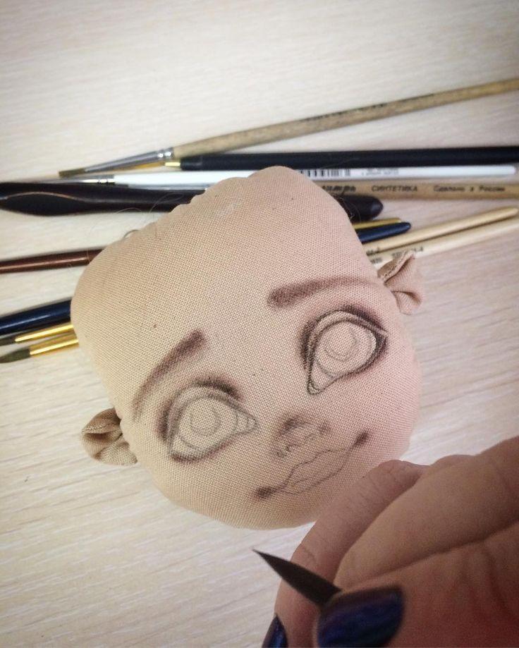 "116 Likes, 3 Comments - Iryna Sazanovich (@lyalkaby) on Instagram: ""Так давно не создавала плосколицых куколок. Сегодня так захотелось взяться именно за такую.…"""