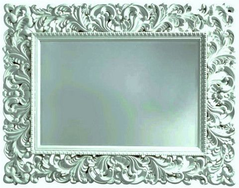 Lace Mirror - White #mirror #furniture #homedecor #interiordecorating #custommade #french