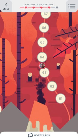 Two Dots iPhone home, maps, illustration, games screenshot