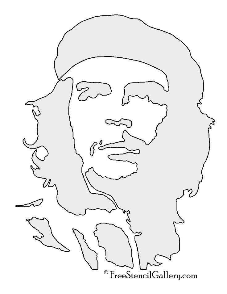 Che-Guevara-Stencil.jpg (850×1100)
