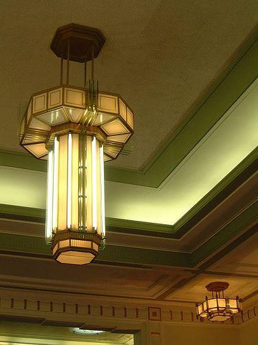 Hackney Town Hall 1930s: London art deco light