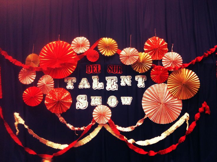 school talent show decorating ideas | used a couple red sheets i bought on sale at ikea for like 4$ and ...