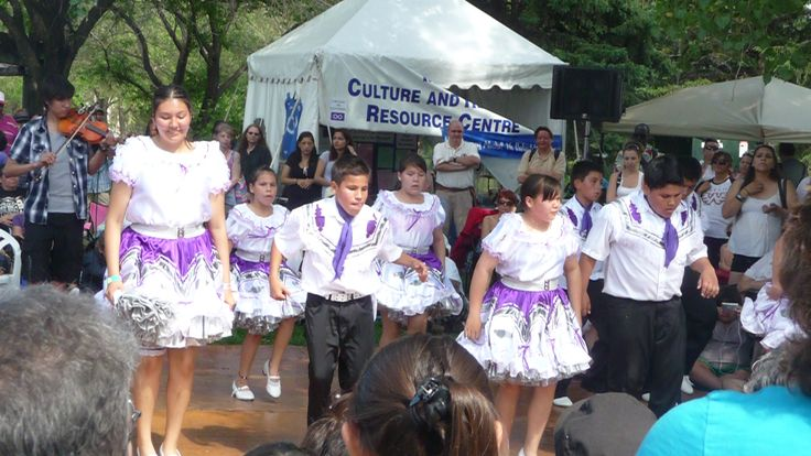 Step Dancers at Metis paviliton at Aboriginal day Live 2013 at The Forks Winnipeg Canada