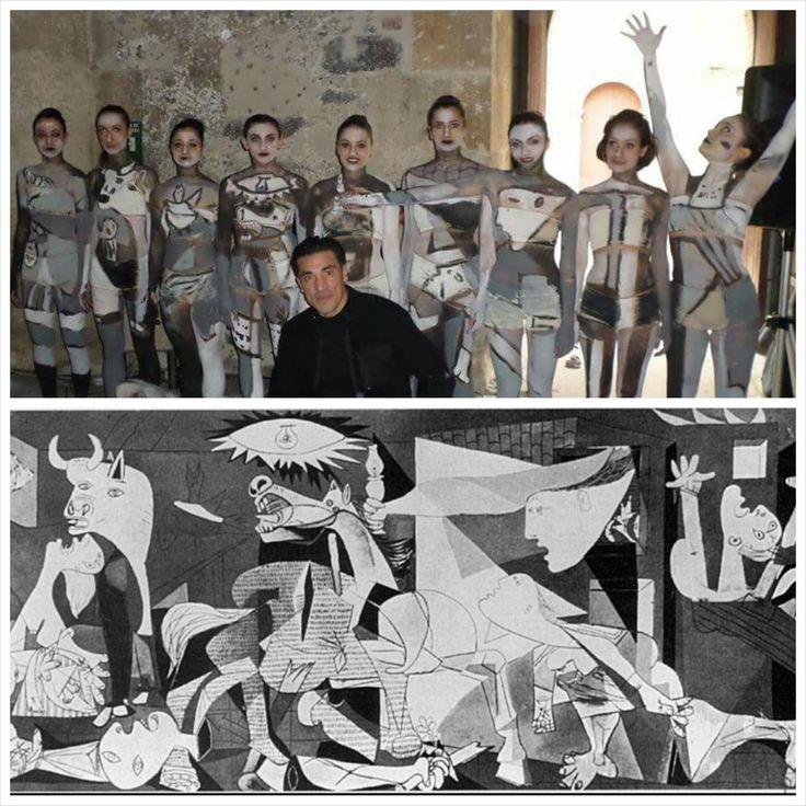 Body painting Picasso e le sue passioni Castel Ursino Catania