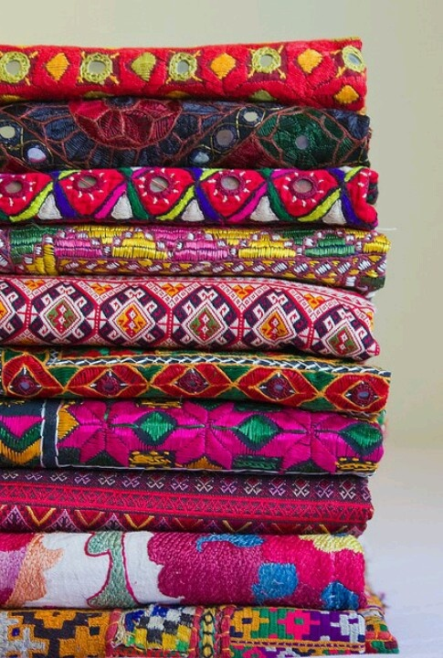 Textiles...Love the colors!