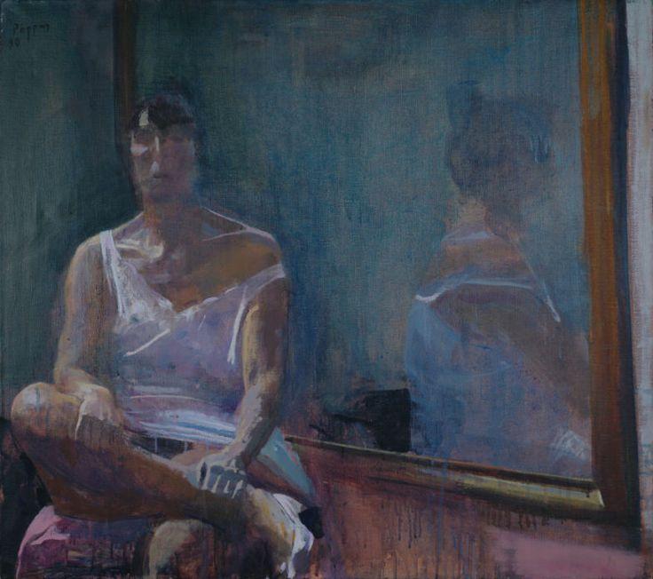 Ελ: 1990, λάδι σε μουσαμά, 80 x 90εκ / En: 1990, oil on canvas, 80 x 90cm- Ρόρρης Γιώργος