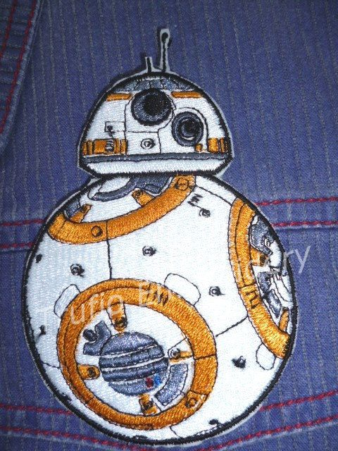 BB 8 droid from Star Wars iron-on patch/badge. by Trufio on Etsy