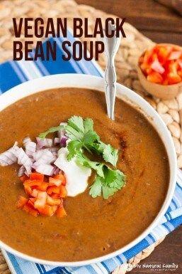 Smoky Black Bean Soup Recept {Vegan, Schoon eten, Gluten vrij, zuivel-vrij}