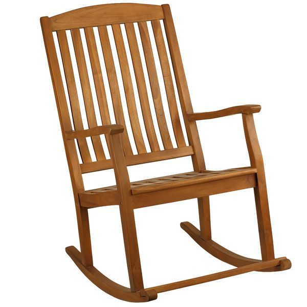 Bare Decor Large Rocking Chair In Teak Wood, Indoor Or Outdoor