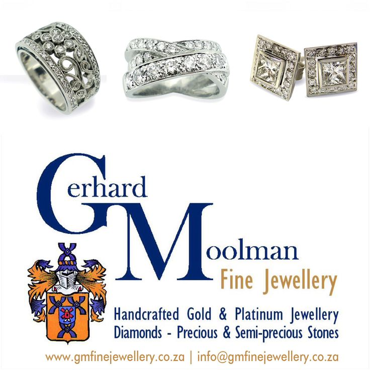 Owner Gerhard specializes in the designing of handmade jewellery, the manufacturing of jewellery as well as any jewellery repairs you may need. Gerhard Moolman Fine Jewellery.  www.gmfinejewellery.co.za  For any queries please contact: gerhard@gmfinejewellery.co.za  Shop 0/1 B | High Street Shopping Village | Durban Rd | Tyger Valley