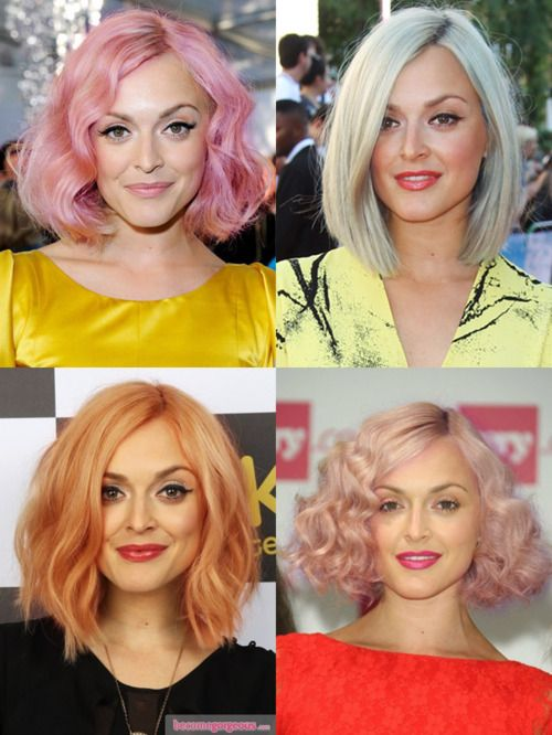 Fearne Cotton. I've really been into pastel colored hair lately...