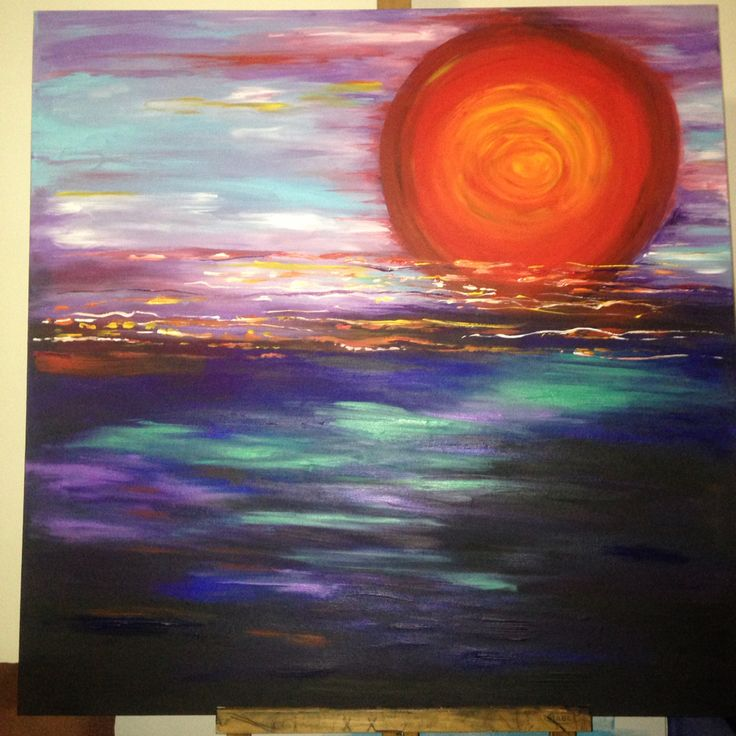 A new day - feeling alive Acrylic by Nicole