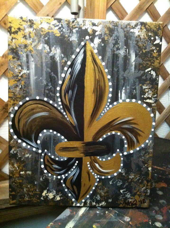 Nice Saints Fleur De Lis  Peace Of Art By MelKay (I Take Orders!) Pictures Gallery
