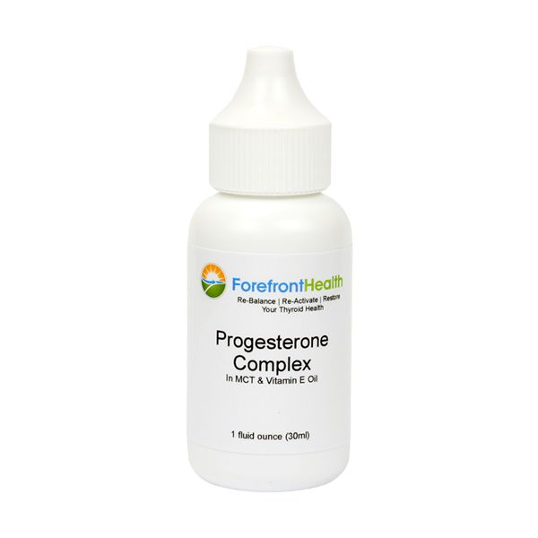 New & Improved! Now comes in an amber glass bottle with dropper insert, like our Vitamin ADK Thyroid Formula. Our Progesterone Complex is a pro-thyroid supplement that can help to:Re-Balance Thyroid-Suppressive Estrogens and Stress Hormones Re-Activate the Thyroid Gland Improve Sleep Reduce Joint-Pain Protect Against Stress and Anxiety Improve Heart Health Relieve Hot Flashes/Flushes Protect Against Ovarian Cysts and Fibrocystic Breasts Improve Fertility