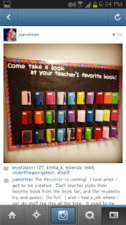 A great way for teachers to share book suggestions!