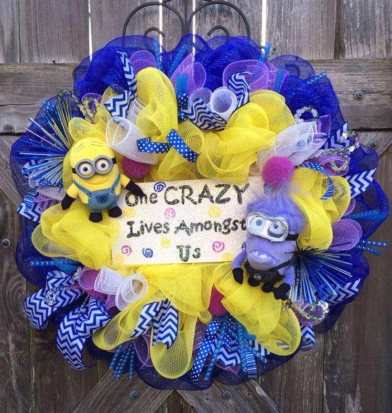 Minion Party, Minion Decor, Minion Door Hanging, Despicable Me, Crazy Minion on Etsy, $110.00
