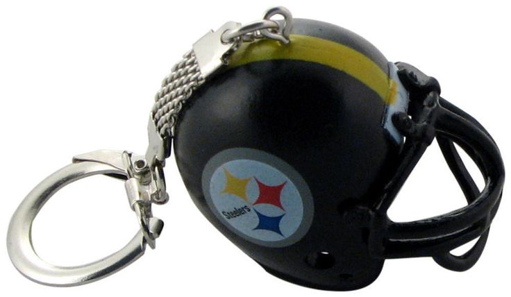 NEW NFL Pittsburgh Steelers Helmet Keychain LICENSED NWT #PittsburghSteelers