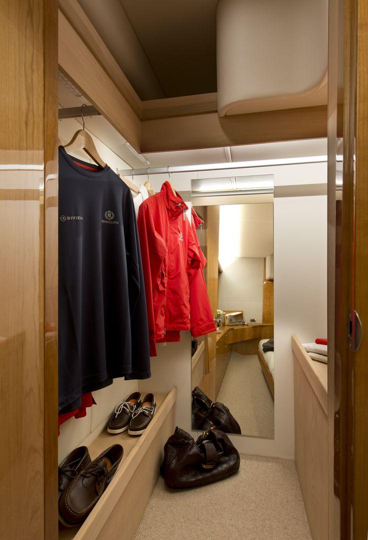 Riviera 565 SUV Master Stateroom Wardrobe
