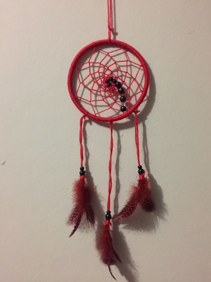 Red Chakra Inspired Dreamcatcher