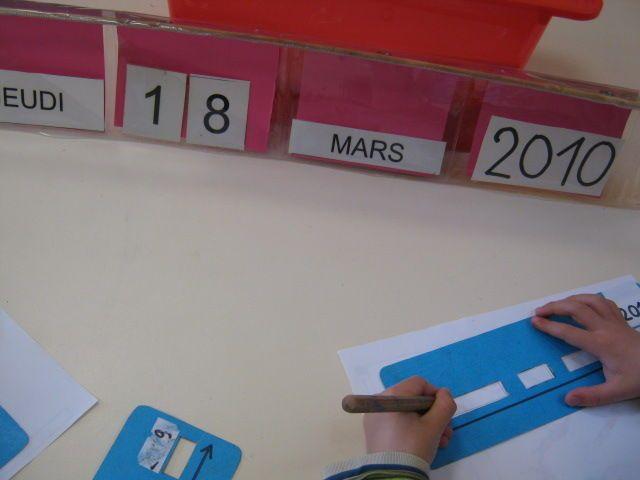 Pour écrire la date tout seul, habitude à prendre pour les gs au dos des fiches d'exercice