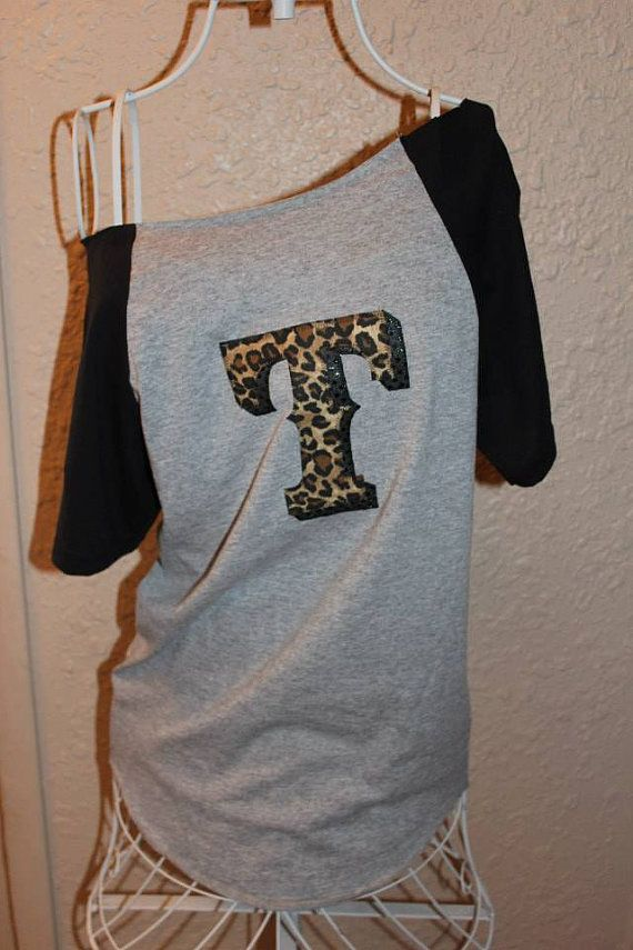 Texas Rangers Cheetah 'T' OfftheShoulder Shirt by SewSnazzybyBrook, $32.00