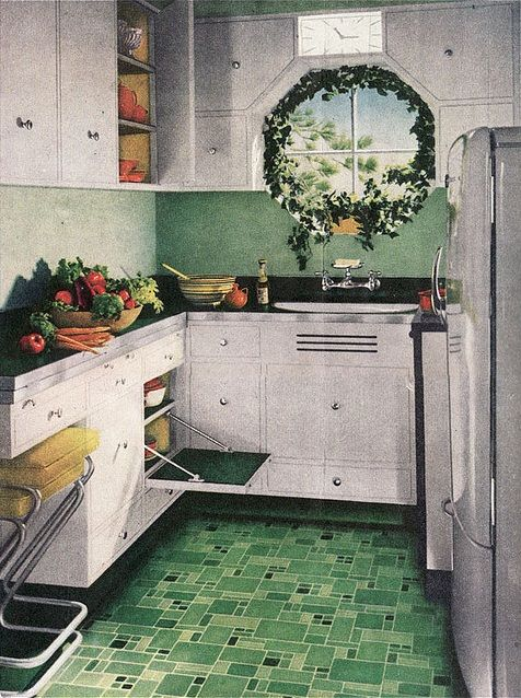 Retro Kitchen Flooring 122 best retro rooms images on pinterest | retro kitchens, vintage