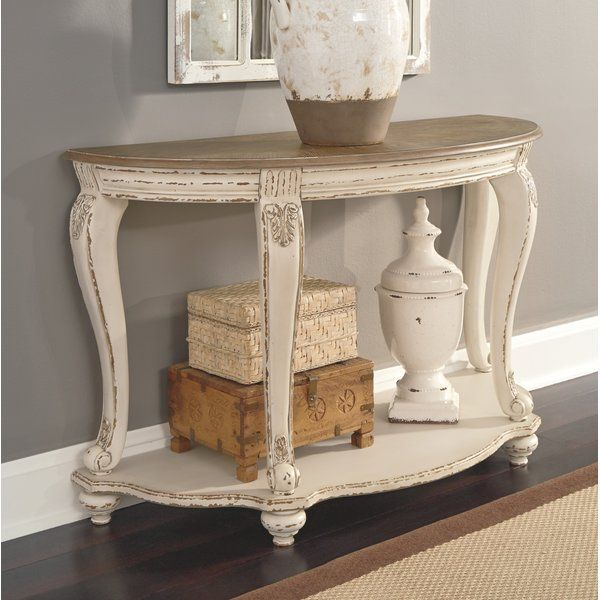 Elevating The Art Of Traditional Cottage Styling This Demilune Console Table Is Sure To Serve You Bea Console Table Traditional Furniture Wooden Console Table