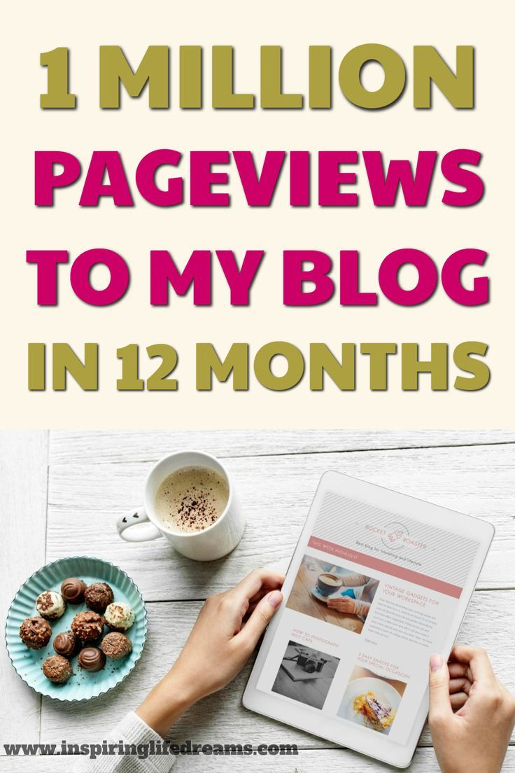 How I Got One Million Pageviews In My First Year Blogging