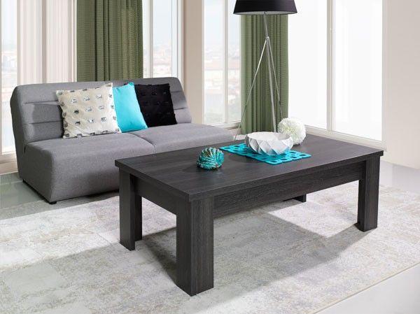 mesa de saln modelo montiano color madera haya oscuro dimensiones cm precio muebles