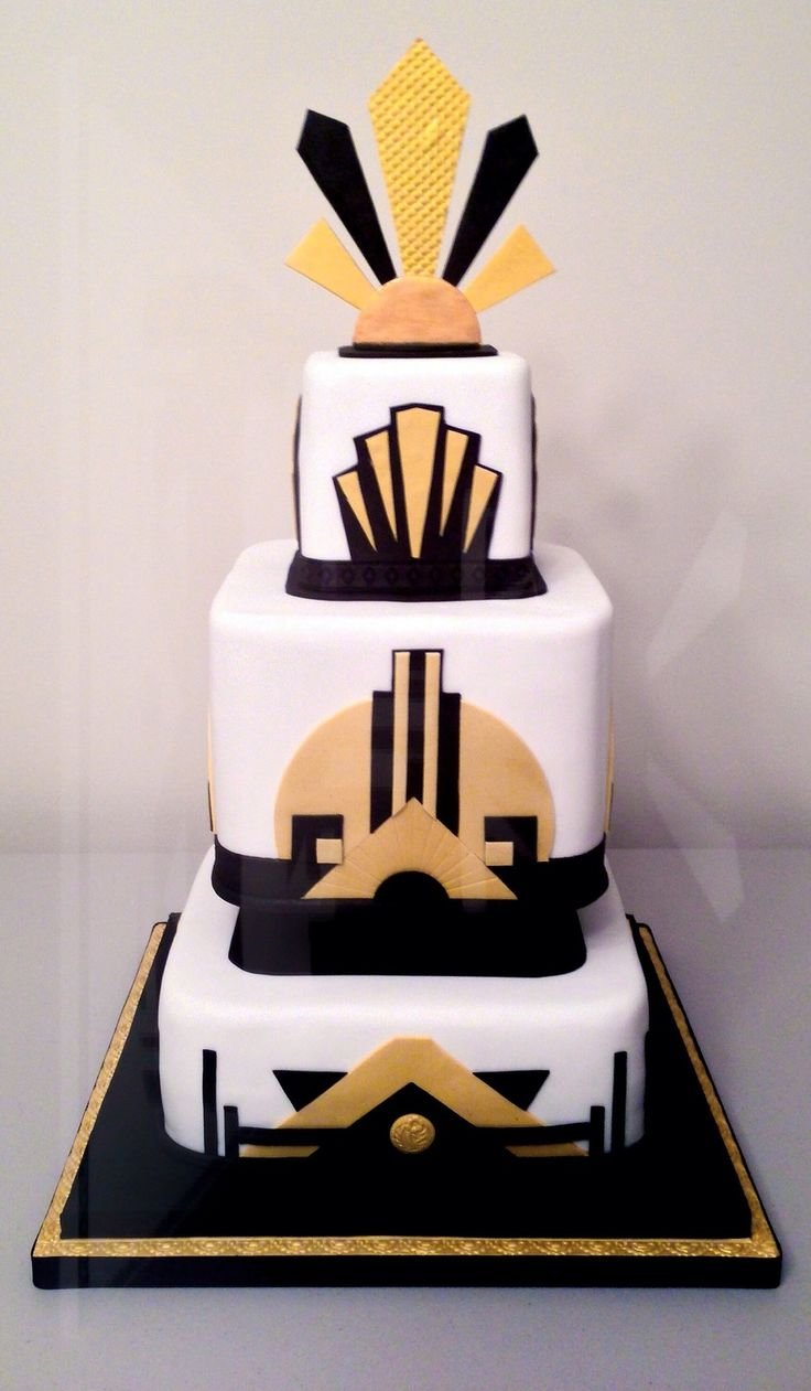 1000+ images about Art Deco Cakes on Pinterest Art deco ...