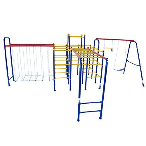 Just arrived Skywalker Sports Jungle Gym Combo Complete with Jungle Gym/Swing Set/Hanging Bridge and Monkey Bars