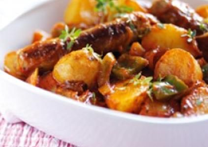 Sausage and Potato Casserole. Uk family dinner recipe