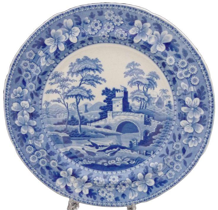 Spode 'Tower' pattern dessert plate, c. 1815  スポード 'タワー' パターン デザート プレート 1815年頃