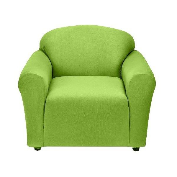 Jersey Chair Slipcover   Lime (£27) ❤ Liked On Polyvore Featuring Home,