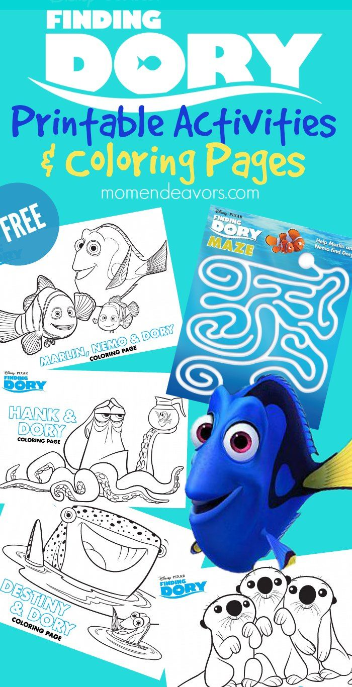 145 best Finding Dory Coloring Pages images on Pinterest   Finding ...