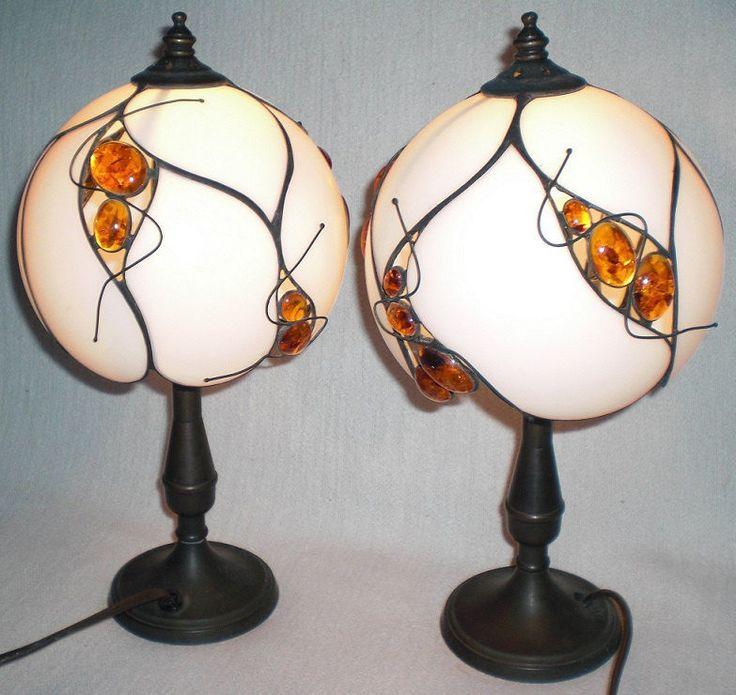 Louis C. Tiffany Tischlampen «Naturbernstein» Tiffany-Art Unikat