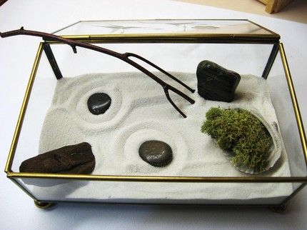 Girl Scout Juniors Gardening Badge zen garden terrarium