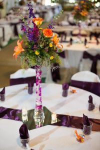 Orange and purple are wonderful colors for a fall wedding! What are your favorite fall wedding color combinations?