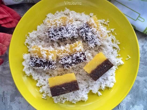 Resep Talam Singkong Cokelat Vanila Oleh Vita Jaurina Resep Makanan Cokelat Resep