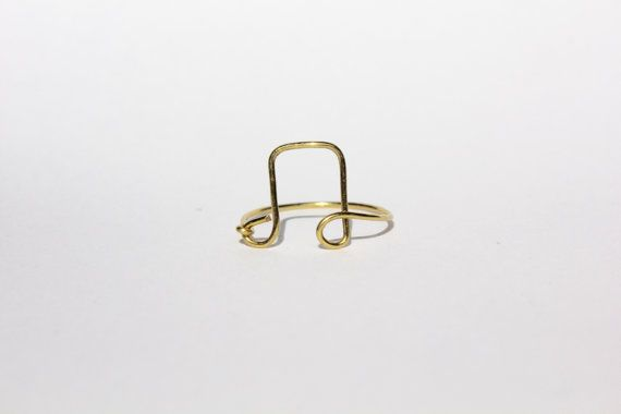 Gold Music Note Wire Ring by MeekAndNeek on Etsy