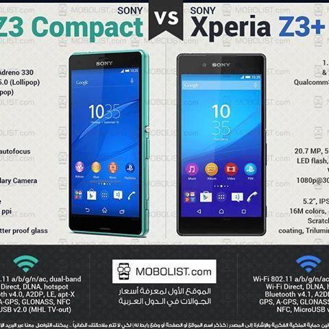 📱#Infographic #XperiaZ3Compact vs. #XperiaZ3Plus