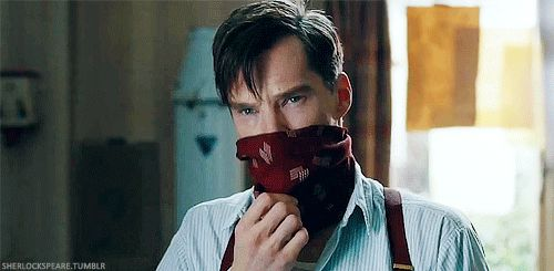 """MAKING """"THE IMITATION"""" GAME (2014) ~ Benedict Cumberbatch as Alan Turin in the behind-the-scenes video. [Video/GIF]"""