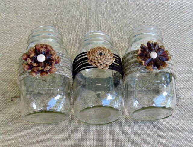 Pine cones craft