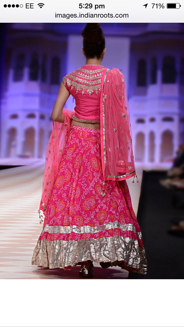 Back side Bandhani Lehenga