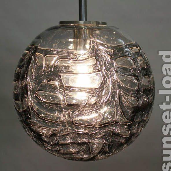 Alte Doria Pendel Lampe Glas Ball Kugel Leuchte