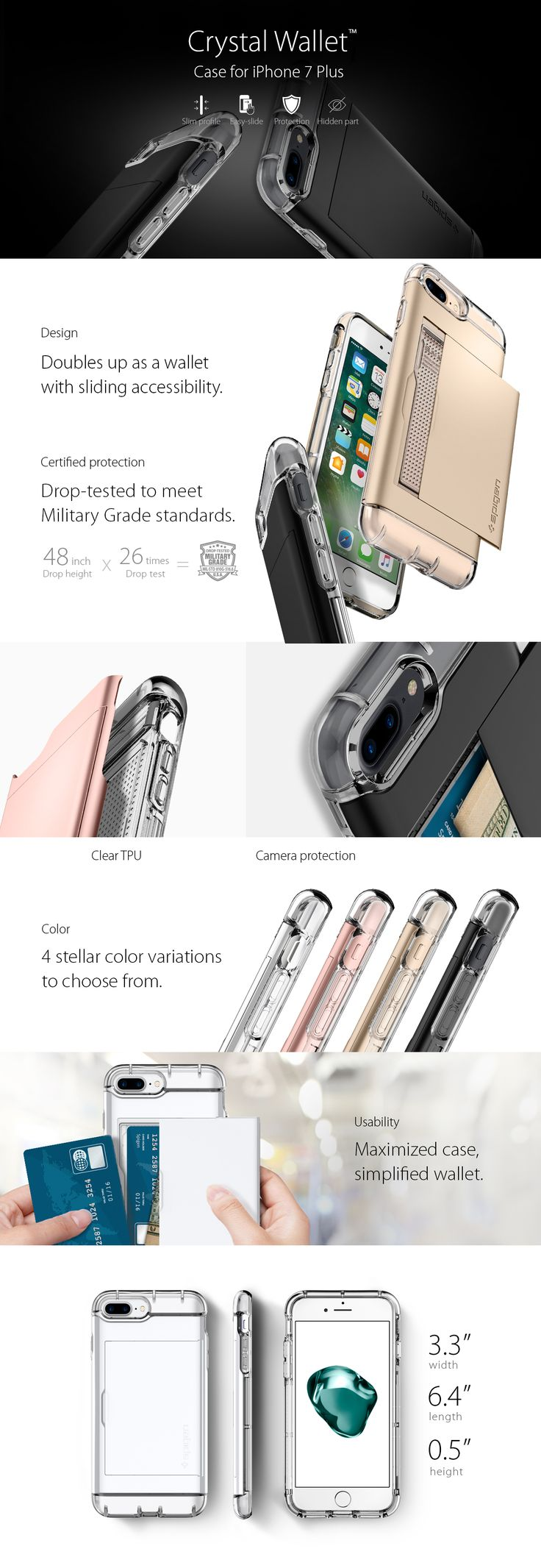 Simplify your shopping essentials with the new Spigen Crystal Wallet without sacrificing anounce of protection and style! Enjoy the latest, patent pending clea