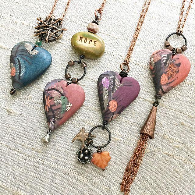 Art Bead Scene Blog: Bead Table Wednesday - Heart Pendant Ideas