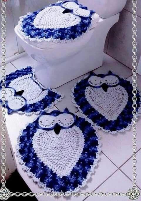 Tapetes para banheiro em crochê